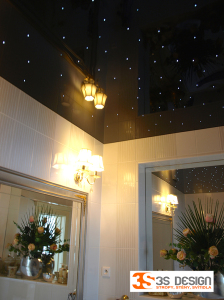 napínané fóliové stropy, hvězdné nebe, Karlovy Vary
