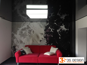 napínané podhledy, LED svítidlo, Karlovy Vary